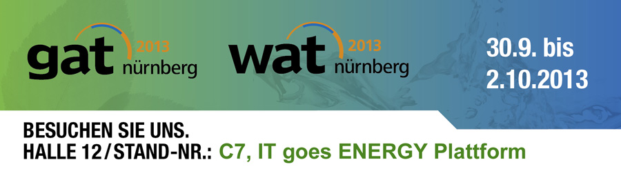 gat 2013 Nürnberg Logo, numetris Stand C7, IT goes ENERGY Plattform